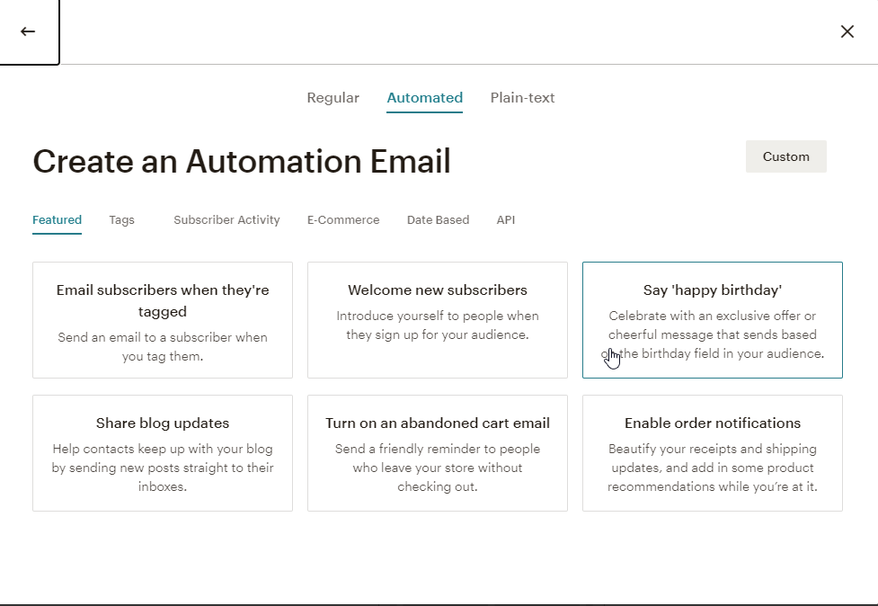 mailchimp create campaign-4