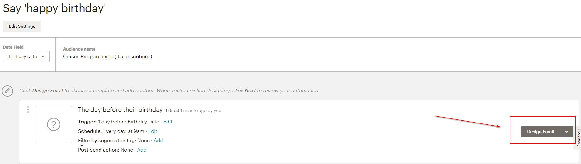 mailchimp design email