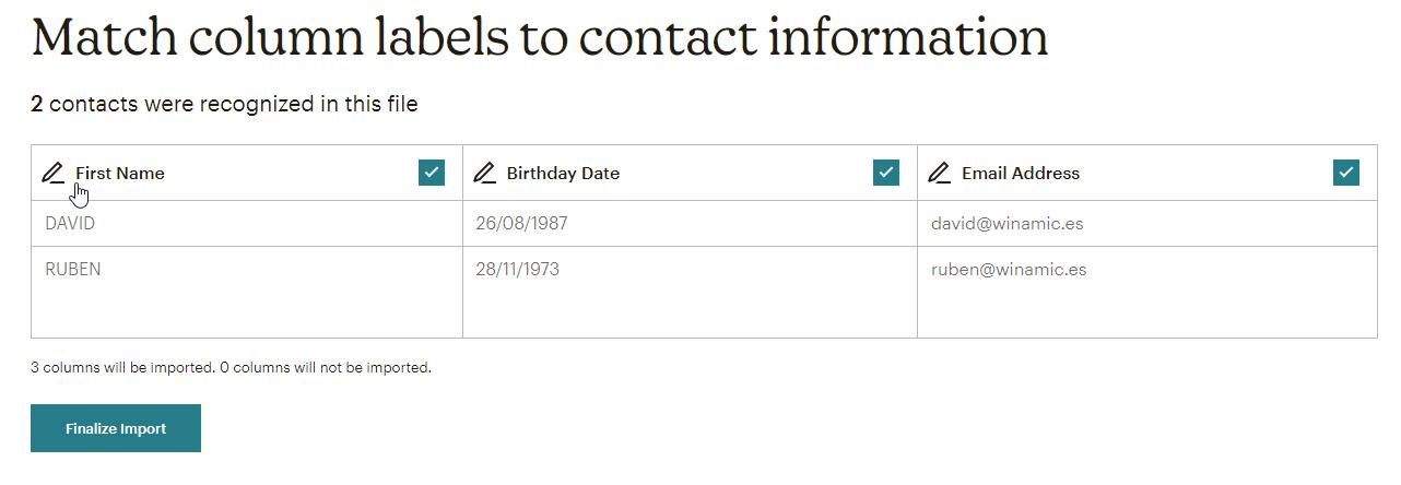 mailchimp import contacts-8